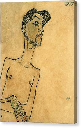 Mime Van Osen Canvas Print by Egon Schiele