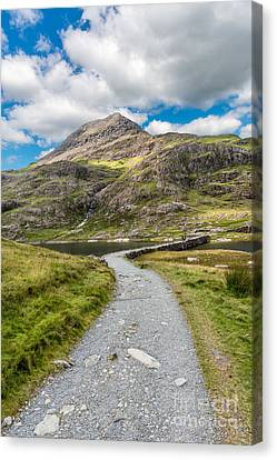Miners Track Snowdonia  Canvas Print by Adrian Evans
