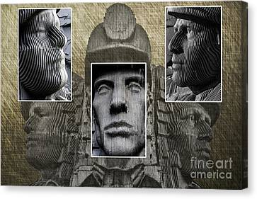 Miners Triptych Canvas Print by Steve Purnell