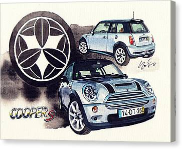 Mini Cooper S Supercharger Canvas Print by Yoshiharu Miyakawa