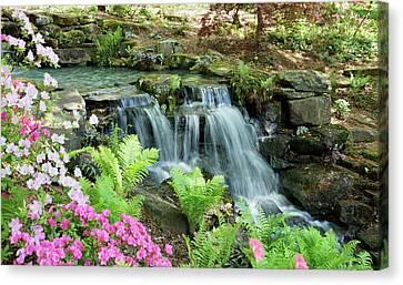Mini Waterfall Canvas Print by Sandy Keeton