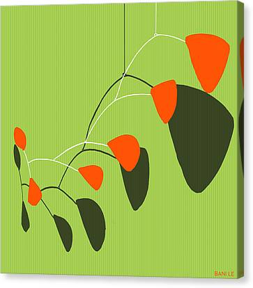 Minimalist Modern Mobile Canvas Print by Little Bunny Sunshine