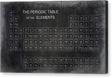 Minimalist Periodic Table Canvas Print by Daniel Hagerman
