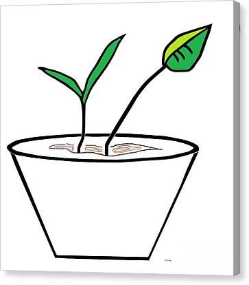 Minimalist Pot Plant Canvas Print by Eloise Schneider