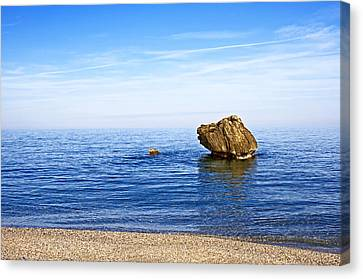 Minimalistic Seascape Canvas Print by Claudia Holzfoerster