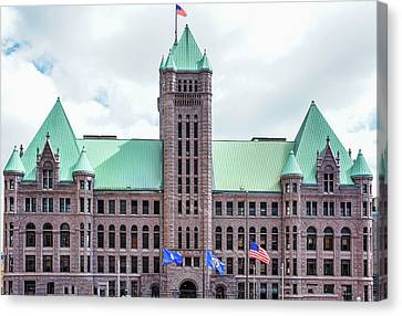 Minneapolis City Hall In Minneapolis, Mn Canvas Print by Art Spectrum