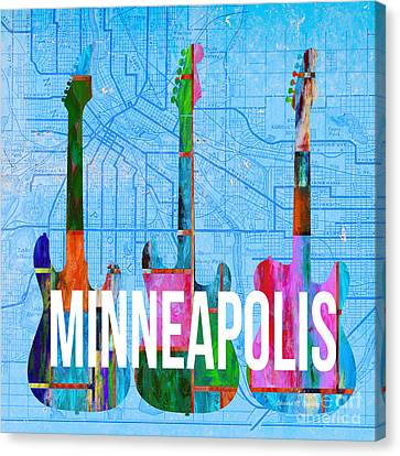 Minneapolis Music Scene Canvas Print by Edward Fielding