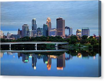 Minneapolis Reflections Canvas Print by Rick Berk