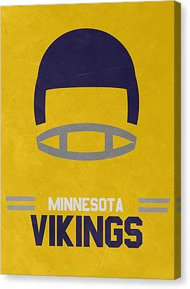 Minnesota Vikings Vintage Art Canvas Print by Joe Hamilton