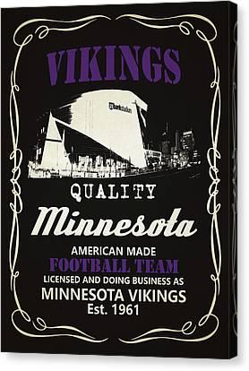 Minnesota Vikings Whiskey Canvas Print by Joe Hamilton