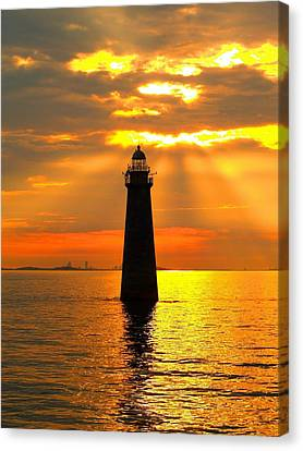 Minot's Ledge Lighthouse Canvas Print by Joseph Gillette