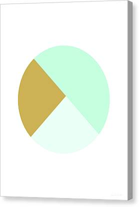 Mint And Gold Ball- By Linda Woods Canvas Print by Linda Woods