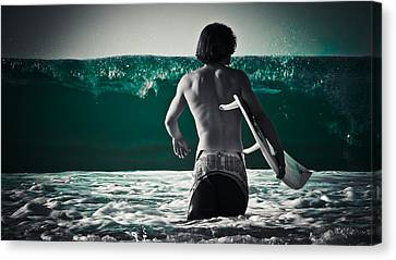 Mint Surf Canvas Print by Loriental Photography