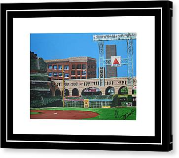Minute Maid Park Canvas Print by Leo Artist
