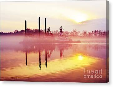 Mirrors - Delaware River Series Canvas Print by Robyn King
