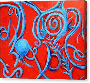 Miscast Shadows Canvas Print by Rebecca Merola