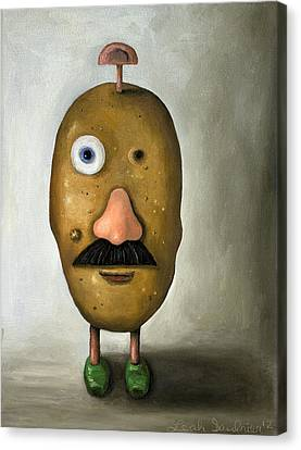 Misfit Potato Head 2 Canvas Print by Leah Saulnier The Painting Maniac