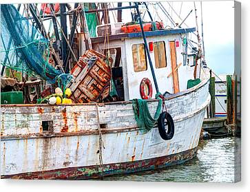 Miss Hale Shrimp Boat - Side Canvas Print by Scott Hansen