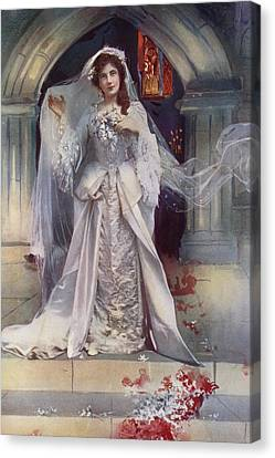 Miss Lena Ashwell In Bonnie Dundee Canvas Print by English School