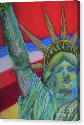 Miss Liberty Canvas Print by Emily Michaud