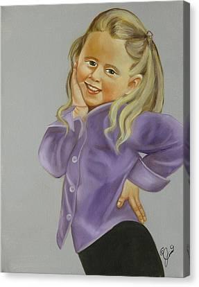 Miss Priss Canvas Print by Joni McPherson