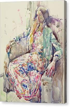Miss Vine Canvas Print by Becky Kim