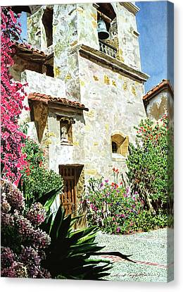 Mission Carmel Bell Tower Canvas Print by David Lloyd Glover