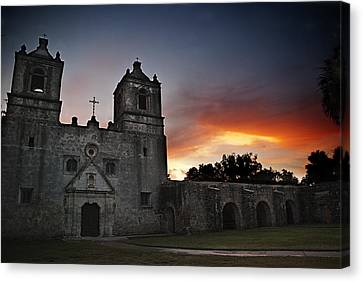 Mission Concepcion At Sunrise Canvas Print by Melany Sarafis