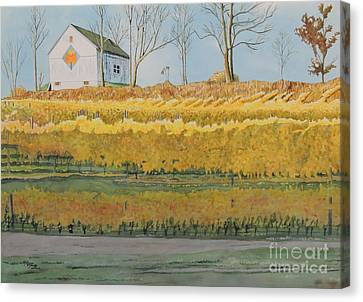 Mission Peninsula Gold Canvas Print by LeAnne Sowa