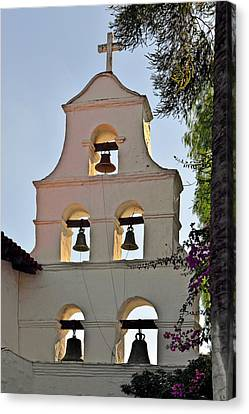 Mission San Diego De Alcala Bell Tower Canvas Print by Christine Till