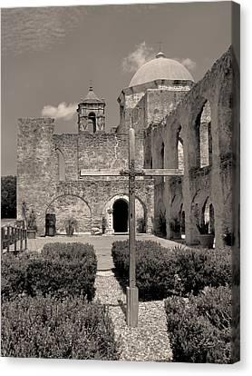 Mission San Jose, Monochrome Canvas Print by Gordon Beck