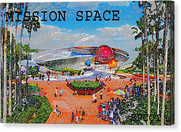 Mission Space Landscape Canvas Print by David Lee Thompson