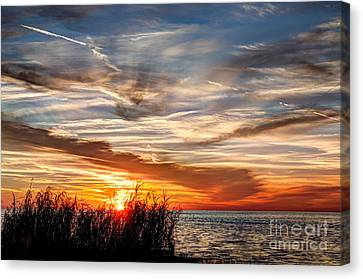 Mississippi Gulf Coast Sunset Canvas Print by Joan McCool