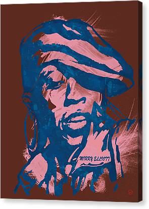 Missy Elliott Pop Stylised Art Sketch Poster Canvas Print by Kim Wang