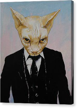 Mister Cat Canvas Print by Michael Creese