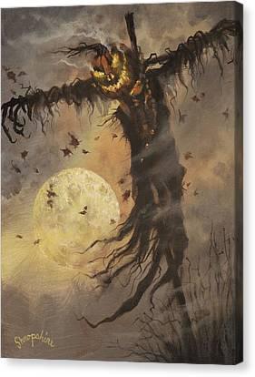 Mister Halloween Canvas Print by Tom Shropshire