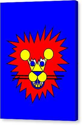 Mister Lion Canvas Print by Asbjorn Lonvig