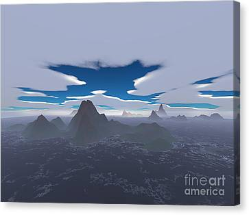 Misty Archipelago Canvas Print by Gaspar Avila