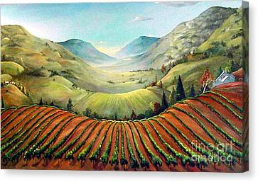 Misty Hills Canvas Print by Barbara Wilson