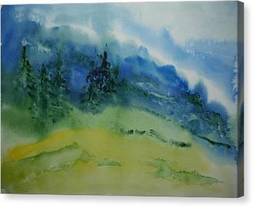 Misty Mountain Canvas Print by Bitten Kari