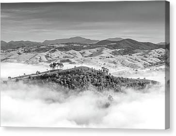 Misty Mountain Hop Canvas Print by Az Jackson