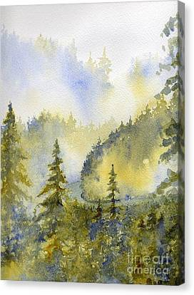 Misty Mountain Morning Canvas Print by Lisa Bell