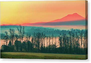 Misty Mountain Sunrise Part 2 Canvas Print by Alan Brown