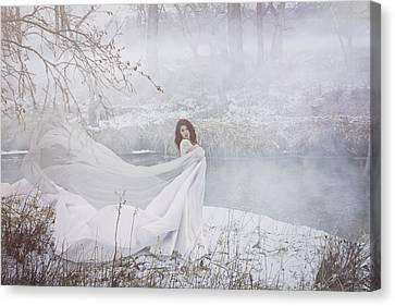 Misty River Canvas Print by Marcin and Dawid Witukiewicz
