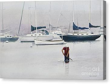 Misty Scalloper Canvas Print by Karol Wyckoff