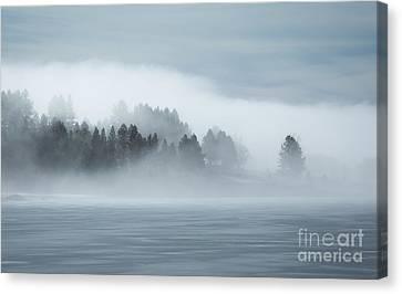 Misty Shores Canvas Print by Idaho Scenic Images Linda Lantzy