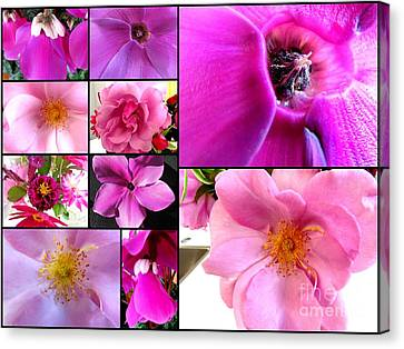 Mix Of Flowers Canvas Print by Joyce Woodhouse