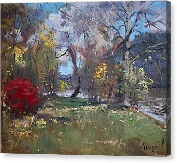 Mixed Weather In A Fall Afternoon Canvas Print by Ylli Haruni