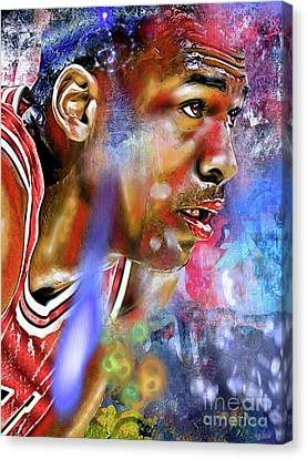 Mj Painted Canvas Print by Daniel Janda