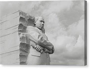 Mlk Statue Canvas Print by Brandon Bourdages